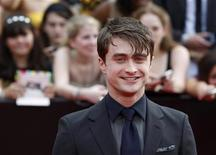 "<p>Cast member Daniel Radcliffe arrives for the premiere of the film ""Harry Potter and the Deathly Hallows: Part 2"" in New York July 11, 2011. REUTERS/Lucas Jackson</p>"