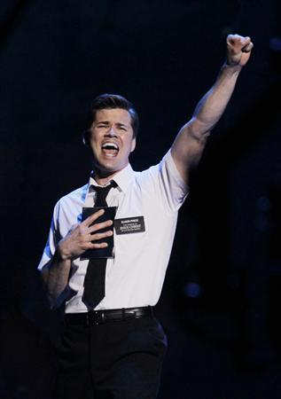 Actor Andrew Rannells performs a scene from ''The Book of Mormon'' during the American Theatre Wing's 65th annual Tony Awards ceremony in New York, June 12, 2011. REUTERS/Gary Hershorn