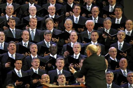 The Mormon Tabernacle Choir of the Church of Jesus Christ of Latter Day Saints sings during the fourth session of the 181st Annual General Conference of the church in Salt Lake City, Utah, April 3, 2011. REUTERS/George Frey