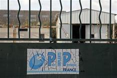 <p>The locked entrance of the French company Poly Implant Prothese (PIP) building is seen in La Seyne-sur-Mer near Toulon, December 27, 2011. REUTERS/Jean-Paul Pelissier</p>
