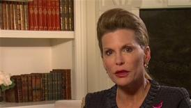 <p>Still image taken from video shows Susan G. Komen for the Cure founder Nancy Brinker making an address which aired on the organization's website on February 1, 2012. REUTERS/Susan G. Komen for the Cure/Handout</p>