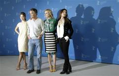 "<p>Director Benoit Jacquot (2nd L) pose with cast members Diane Kruger (L-R), Lea Seydoux and Virginie Ledoyen pose during a photocall to promote the movie ""Farewell my Queen"" at the 62nd Berlinale International Film Festival in Berlin February 9, 2012. REUTERS/Tobias Schwarz</p>"