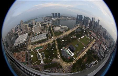An aerial view of Marina Bay and central business district skyline in Singapore September 19, 2011. REUTERS/David Loh