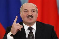 <p>رئيس روسيا البيضاء الكسندر لوكاشينكو خلال زيارة لروسيا يوم 18 نوفمبر تشرين الثاني 2012 - رويترز</p>