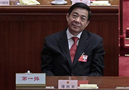 China's Chongqing Municipality Communist Party Secretary Bo Xilai attends the closing ceremony of the National People's Congress (NPC) at the Great Hall of the People in Beijing, March 14, 2012. REUTERS/Jason Lee