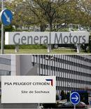 <p>PSA Peugeot-Citroën étudie avec General Motors, dans le cadre de leur alliance, la faisabilité de développements sur des plates-formes communes pour les segments des grandes berlines et des petits monospaces. /Photo d'archives/REUTERS</p>
