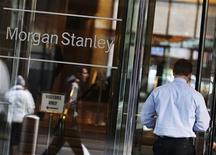 <p>Morgan Stanley souhaite racheter cette année la totalité de la participation de Citigroup dans leur coentreprise de gestion de fortune, ont dit vendredi des sources au fait des intentions de Morgan Stanley. /Photo prise le 18 janvier 2012/REUTERS/Shannon Stapleton</p>
