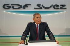 <p>Gérard Mestrallet, le PDG de GDF Suez. L'offre indicative du groupe français de racheter les 30% du capital de l'électricien britannique International Power qu'il ne détient pas encore a été rejetée mercredi. /Photo d'archives/REUTERS/John Schults</p>
