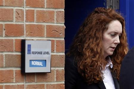 Former News International chief executive Rebekah Brooks leaves Lewisham Police Station in London May 15, 2012. REUTERS/Stefan Wermuth
