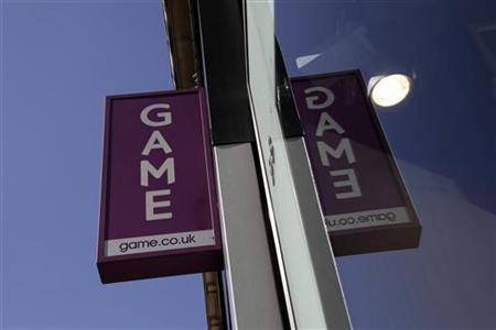 A sign outside a Game store is seen in central London March 26, 2012. REUTERS/Stefan Wermuth