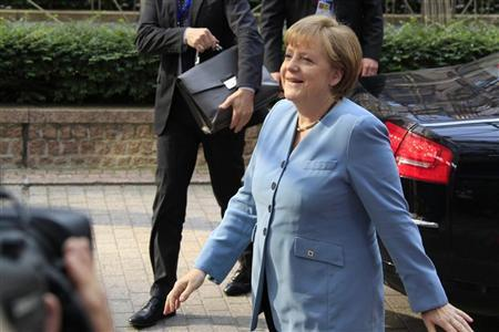 German Chancellor Angela Merkel arrives to attend an informal EU leaders summit in Brussels May 23, 2012. REUTERS/Pascal Rossignol