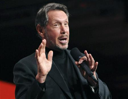 Oracle CEO Larry Ellison delivers the keynote address at the 29th Oracle OpenWorld in San Francisco October 2, 2011. REUTERS/Susana Bates