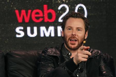 Napster founder and former Facebook president Sean Parker gestures during the Web 2.0 Summit in San Francisco, California October 17, 2011. REUTERS/Robert Galbraith