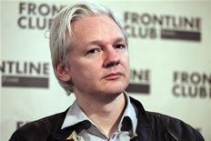 <p>El fundador de WikiLeaks, Julian Assagne, durante una conferencia de prensa en Londres, feb 27 2012. El fundador de WikiLeaks, Julian Assange, apeló la decisión de la Corte Suprema de Gran Bretaña de respaldar su extradición a Suecia por presuntos delitos sexuales. REUTERS/Finbarr O'Reilly</p>