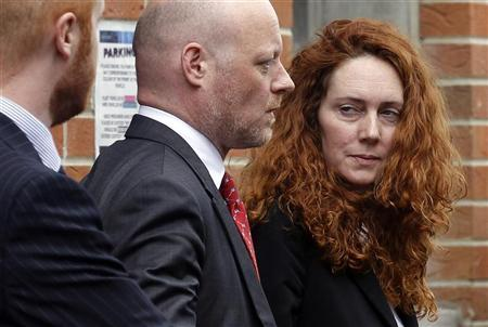 Former News International chief executive Rebekah Brooks (R) leaves Lewisham Police Station in London May 15, 2012. REUTERS/Stefan Wermuth