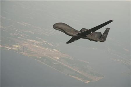 Undated file photo courtesy of the U.S. Navy shows a RQ-4 Global REUTERS/U.S. Navy/Erik Hildebrandt/Northrop Grumman/Handout