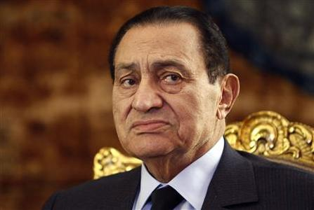 Egypt's President Hosni Mubarak attends a meeting with South Africa's President Jacob Zuma at the presidential palace in Cairo in this October 19, 2010 file photo. REUTERS/Amr Abdallah Dalsh/Files