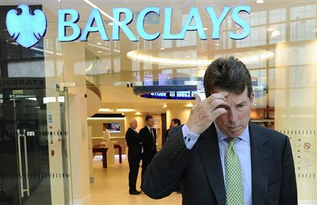 Barclays PLC President Bob Diamond waits to pose for photographs after being named as the company's next chief executive officer at a bank branch near their Canary Wharf headquarters in London in this September 7, 2010 file photo. REUTERS/Dylan Martinez/Files