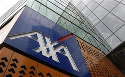 <p>Axa, à suivre mercredi à la Bourse de Paris. Axa Private Equity a signé un accord en vue d'une prise de participation de 45% dans Arkadin, un spécialiste français des vidéo conférences qui a réalisé un chiffre d'affaires de 159 millions d'euros en 2011. /Photo d'archives/REUTERS/Mick Tsikas</p>