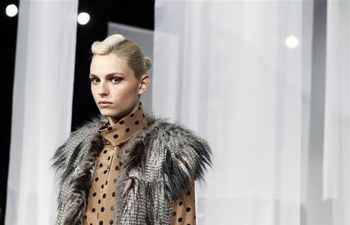 Male model in female fashion