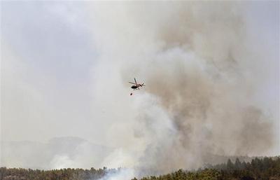 Fire on Tenerife Island