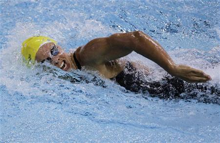 Australia's Lisbeth ''Libby'' Trickett competes in the women's 100m freestyle final during the FINA Swimming World Cup in Singapore November 5, 2011. REUTERS/Tim Chong