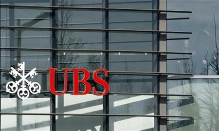 The logo of UBS bank is seen at its office in Luxembourg, March 17, 2009. REUTERS/Francois Lenoir