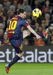 <p>Le Celta Vigo n'a pas réussi, samedi, à mettre fin à sept décennies d'insuccès au Camp Nou de Barcelone, où les coéquipiers de Lionel Messi ont gagné 3-1 et pris un peu d'avance au sommet da la Liga. /Photo prise le 3 novembre 2012/REUTERS/Albert Gea</p>