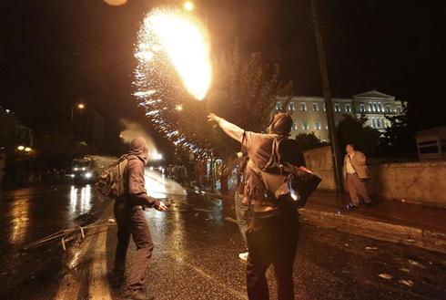 Athens ablaze