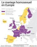 <p>LE MARIAGE HOMOSEXUEL EN EUROPE</p>
