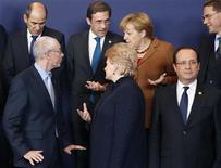 <p>Les dirigeants de l'Union européenne s'acheminent vers un constat de désaccord sur le budget communautaire pour 2014-2020 mais la France et certains de ses partenaires espèrent au moins définir les bases d'une reprise ultérieure des négociations. /Photo prise le 23 novembre 2012/REUTERS/Francois Lenoir</p>