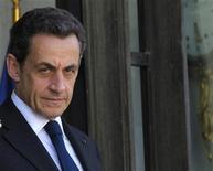 <p>Nicolas Sarkozy a nié jeudi devant le juge d'instruction à Bordeaux avoir reçu le moindre argent de la famille Bettencourt, écrit samedi Sud-Ouest qui publie des extraits de son audition. /Photo prise le 9 mai 2012/REUTERS/Philippe Wojazer</p>