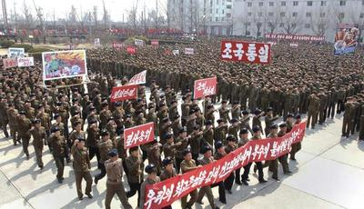 North Korean pageantry