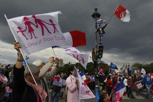 Gay marriage protests in Paris
