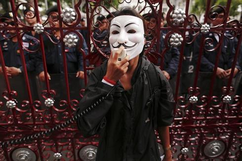 Global face of Guy Fawkes