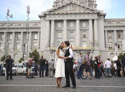 Gay marriage supporters celebrate