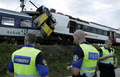Swiss train collision