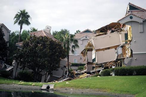 Sinkhole swallows Florida resort