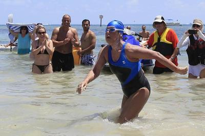 Diana Nyad completes Cuba-Florida swim