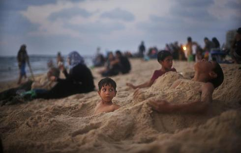 The Gaza shore