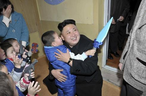 Kim Jong Un visits orphanage