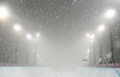 Snowfall in Sochi