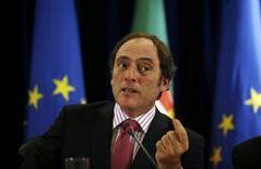 Paulo Portas, le vice-Premier ministre du Portugal. Le gouvernement portugais a revu à la hausse ses prévisions économiques, ce qui est plutôt de bon augure pour un pays qui va sortir d'ici quelques mois, à l'instar de l'Irlande à la fin de 2013, du programme d'aide international auquel Lisbonne avait dû avoir recours en 2011. /Photo prise le 28 février 2014/REUTERS/Rafael Marchante