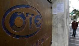 OTE, premier opérateur grec de télécoms, a vu son chiffre d'affaires progresser au quatrième trimestre 2013, une première depuis cinq ans, nouvel indice suggérant un possible redémarrage de l'économie grecque, frappée depuis des années par la récession. /Photo d'archives/REUTERS/Yiorgos Karahalis