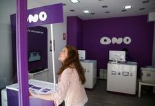 Dans un contexte de recomposition du secteur des télécoms en Europe, le britannique Vodafone annonce lundi le rachat du câblo-opérateur espagnol Ono pour 7,2 milliards d'euros pour redéployer ses activités en Europe. /Photo prise le 17 mars 2014/REUTERS/Marcelo del Pozo