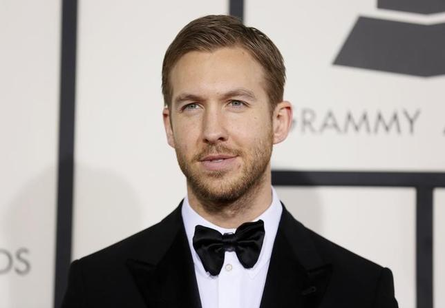 Singer Calvin Harris arrives at the 56th annual Grammy Awards in Los Angeles, California January 26, 2014.     REUTERS/Danny Moloshok