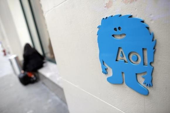 The AOL logo is seen at their office in New York November 5, 2013. REUTERS/Andrew Kelly/Files