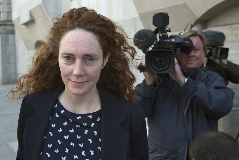 Former News International chief executive Rebekah Brooks arrives at the Old Bailey courthouse in London April 16, 2014.  REUTERS/Neil Hall/Files