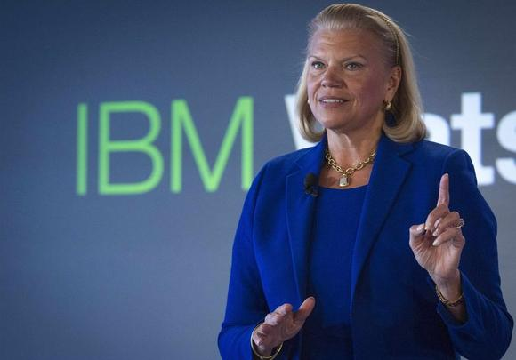 IBM Chairwoman and CEO Virginia ''Ginni'' Rometty speaks at an IBM Watson event in lower Manhattan, New York January 9, 2014. REUTERS/Brendan McDermid/Files