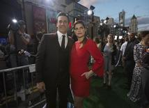 "Cast members Jon Hamm and Lake Bell pose at the premiere of ""Million Dollar Arm"" at El Capitan theatre in Hollywood, California May 6, 2014. REUTERS/Mario Anzuoni"
